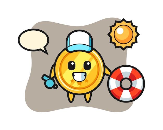 비치 가드로 메달의 만화 마스코트