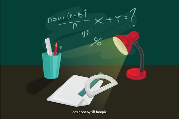 만화 수학 배경