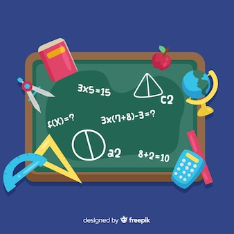 Cartoon math blackboard background