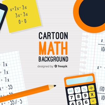 Cartoon math concept background