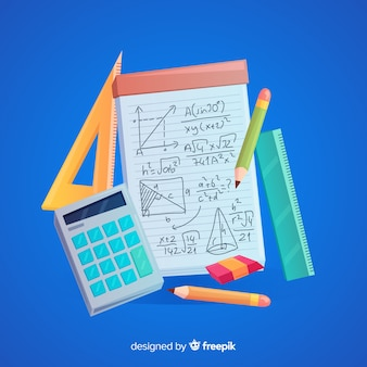 Cartoon math elements background