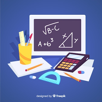 Cartoon maths material background