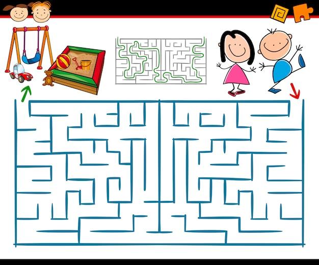 漫画迷路や迷路ゲーム