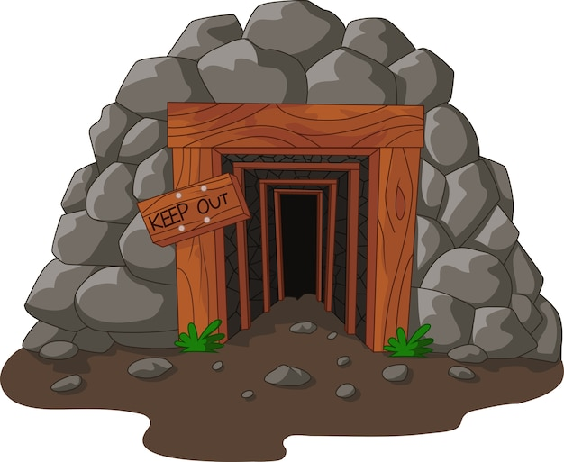 Cartoon mine entrance