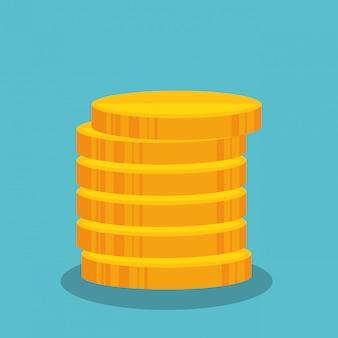 Cartoon money earnings design isolated