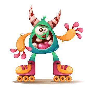 Cartoon monster characters