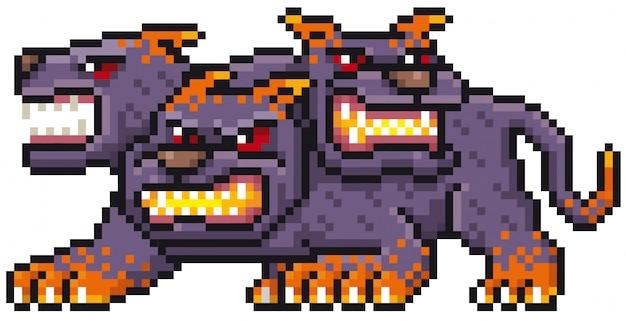 Cartoon monster pixel design