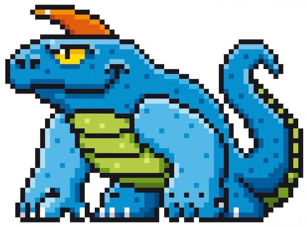 Мультфильм монстр пиксель дизайн