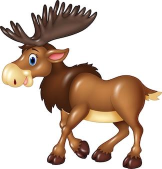 Cartoon moose expression