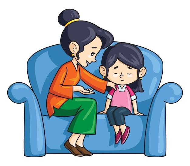 Мультяшная мама советует дочери