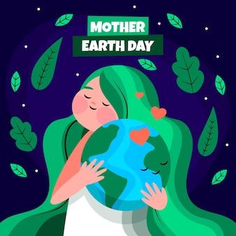 漫画母なる地球デーのイラスト