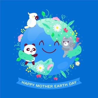 动画片母亲地球天天例证