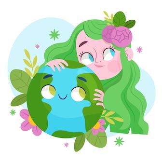 Мультяшный день матери-земли