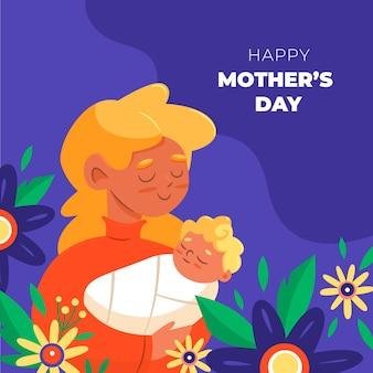 Illustrazione di festa della mamma del fumetto