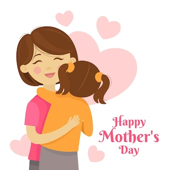 Cartoon mother's day illustration