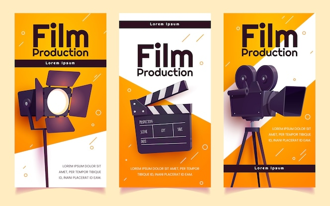 Cartoon movie producing vertical banners