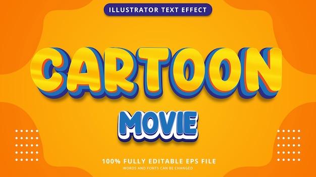 Cartoon movie text effect editable
