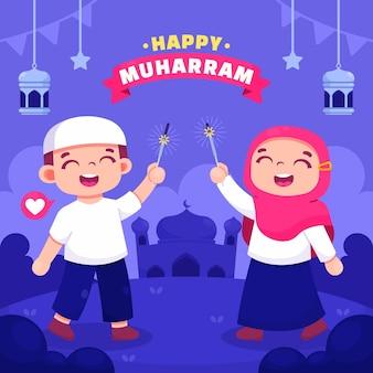 ムハッラムの漫画イラスト