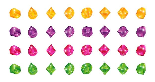 漫画の多色宝石のイラスト
