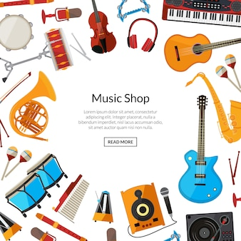 Cartoon musical instruments