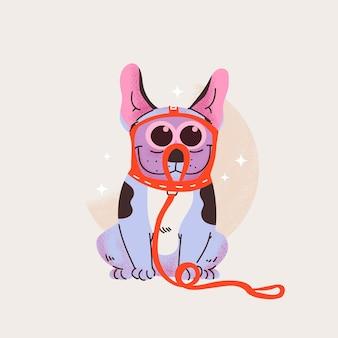 Мультяшная собака в наморднике