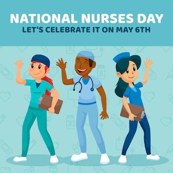 漫画の全国看護師の日のイラスト