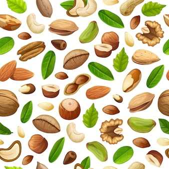 Cartoon natural food seamless pattern