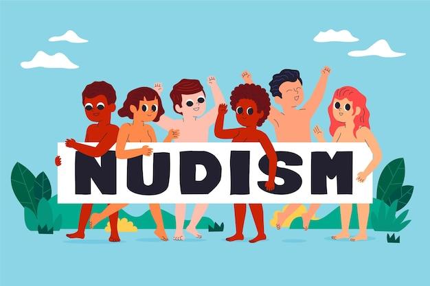 漫画の裸体主義の概念図