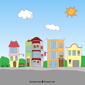 Cartoon neighborhood
