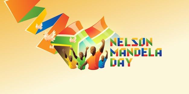 Иллюстрация международного дня нельсона манделы