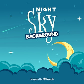 Cartoon night sky background