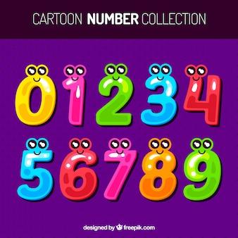 Коллекция мультяшных номеров с символами