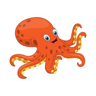 Cartoon octopus isolated on white
