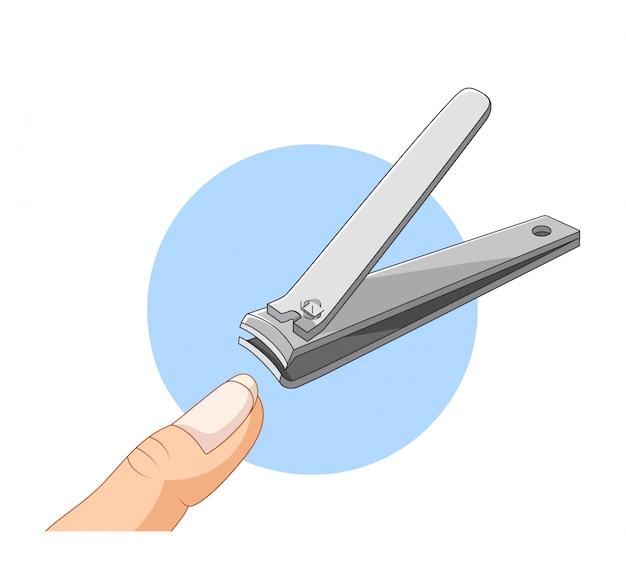 Мультфильм клипер для ногтей на белом