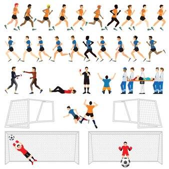 サッカーマン選手のアクションの漫画。