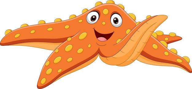 Мультфильм оранжевая морская звезда изолированные