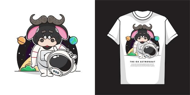 만화 황소 tshirt 디자인