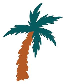 Cartoon palm tree. coconut tree. summer vacation.