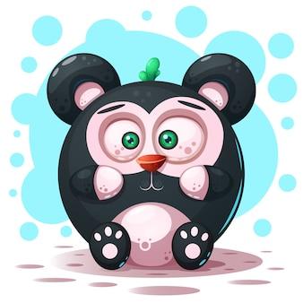 Cartoon panda character