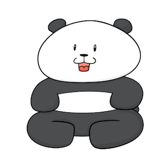 Cartoon panda