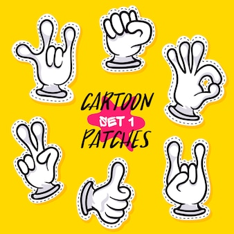 Cartoon patches with human hands