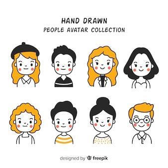Cartoon people avatar collection