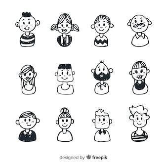 Cartoon people avatar pack