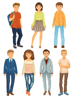 Cartoon people of different professions.