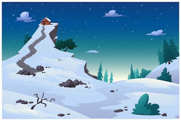 Мультяшные картинки атмосферы зимой со снегом.