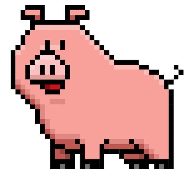 Cartoon pig pixel design