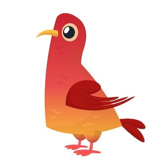 Мультяшный голубь