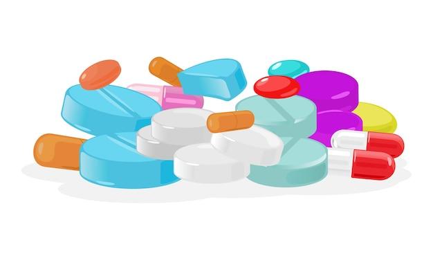 의료 약의 만화 더미
