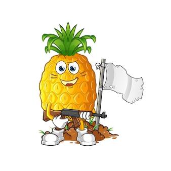 Иллюстрация шаржа ананаса