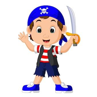 칼을 들고 만화 해적